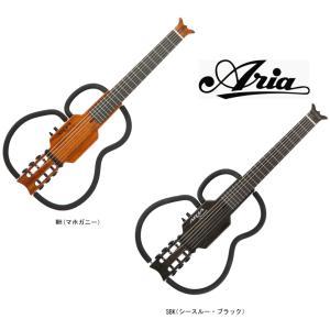ARIA Sinsonido AS101C MH(Mahogany) / SBK(See-through Black) アリア サイレントギター シンソニード クラシック マホガニー / シースルー・ブラック|g-sakai