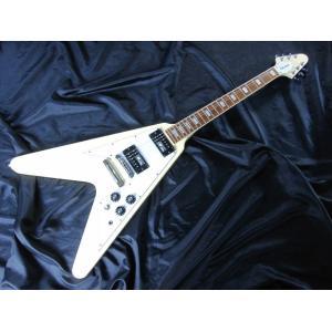 【値上げ前 旧品番 店頭展示品 在庫限り】 EDWARDS E-FV-100D Vintage White エドワーズ エレキギター|g-sakai