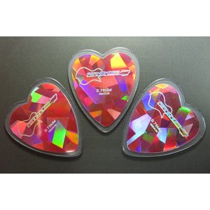 FERNANDES P-100HDP Heart Diamond Pink Pick 0.75mm フェルナンデス ハート・ダイアモンド ピンク ピック 3枚セット|g-sakai