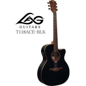 《※入荷しました。 在庫あります。》 LAG GUITARS Tramontane 118 T118ACE-BLK ラグ・ギターズ エレクトリック・アコースティックギター|g-sakai