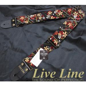 和装小物などにも使われる「ちりめん風生地」による和風ストラップ。  ライブラインの50mm幅ストラッ...