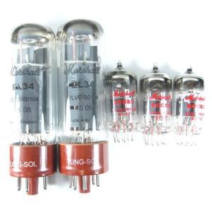 Marshall 50W チューブ全交換セット / 50W用真空管一式 (プリ管 VLVE00064/ECC83) x 3本 + (パワー管 VLVE00104/EL34マッチド・ペア管) g-sakai