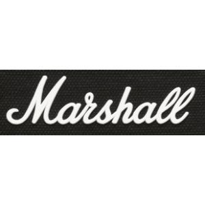 Marshall LOGO00005 マーシャル ロゴマーク 大 ホワイト(標準タイプ スピーカーキャビネット用)