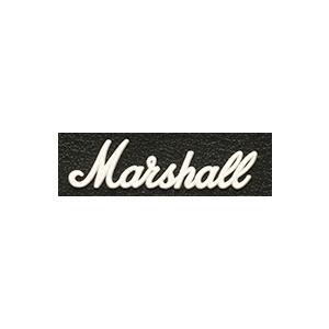 Marshall 【LOGO00009】 Amp Logo Small White マーシャル ロゴマーク 小 ホワイト(ビンテージタイプ 1987X用) アンプ ロゴ|g-sakai