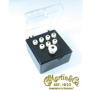 Martin 18APP28 Bridge & Endpin Set  White/Black マーティン フォークギター ブリッジ・ピン & エンド・ピン セット (白)|g-sakai
