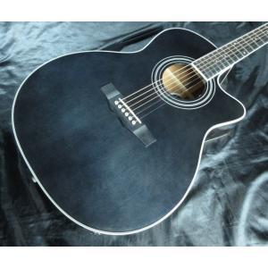 [※只今品切れ中 入荷待ち。] Morris R-401 SBK モーリス アコースティックギター エレアコ・ギター 今だけチューナーとギタースタンドとピックが付いてくる|g-sakai