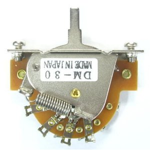 SCUD DM-30S 3WAY SWITCH スカッド レバースイッチ ミリサイズ オープンタイプ 3点スイッチ(取付ビス付属)|g-sakai
