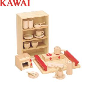 【送料無料】ままごと おままごと KAWAI カワイ 抗菌ままごとあそびトレイセット 8013 知育玩具 おもちゃ 木製|g-store1