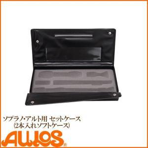 リコーダー リコーダー用ソフトケース ソプラノ アルト用 セットケース 2本入用 AULOS アウロス g-store1
