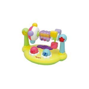 赤ちゃんの大好きなクルクル遊び! ユニークな形のボード型おもちゃ。クルクル回したり、押したりするとゆ...