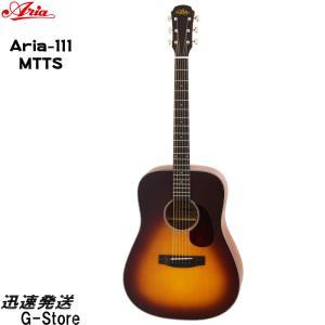 Aria アコースティックギター ARIA-111 MTTS タバコサンバースト マット仕上げ ソフトケース付 アコギ アリア g-store1