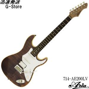 AriaProII エレキギター 714-AE200-LV イエローゴールド アリアプロ2 アリア・エバーグリーン g-store1