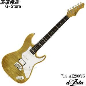 AriaProII エレキギター 714-AE200-YG イエローゴールド アリアプロ2 アリア・エバーグリーン g-store1