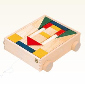 KAWAI カワイ 抗菌カラー引き車つみき 4701 知育玩具 おもちゃ 木製 積み木セット|g-store1