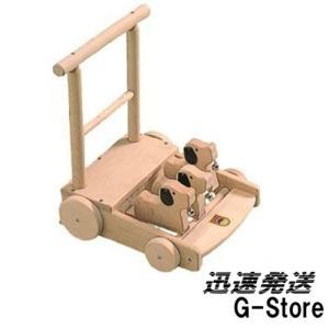 カワイ 手押し車 6032 カタカタ ベビーウォーカー 知育玩具 おもちゃ 木製 心ばかりのプレゼント KAWAI|g-store1