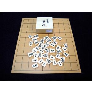 将棋セット 塩化ビニール将棋盤 と プラスチック駒 セット 歩心 裏黒 お得なセット|g-store1