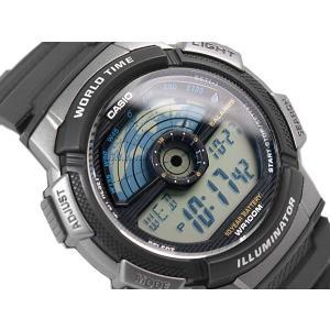 CASIO WORLD TRAVELER カシオ ワールドトラベラー デジタル腕時計 逆輸入海外モデル グレー シルバー ブラック AE-1100W-1A AE-1100W-1