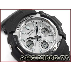 G-SHOCK Gショック 逆輸入海外モデル CASIO カシオ アナデジ 電波 ソーラー 腕時計 ホワイト ブラック AWG-M100S-7A