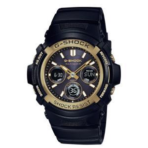 G-SHOCK Gショック ジーショック カシオ CASIO 電波ソーラー 電波時計 アナデジ 腕時計 ブラック ゴールド AWG-M100SBG-1AJF 国内正規モデル