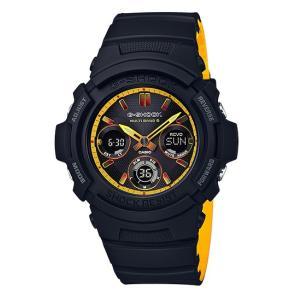 G-SHOCK Gショック ジーショック 限定 Black&Yellowシリーズ 電波ソーラー カシオ アナデジ 腕時計 イエロー ブラック AWG-M100SBY-1AJF 国内正規モデル|g-supply