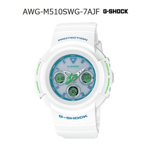 G-SHOCK Gショック ジーショック カシオ CASIO 電波 ソーラー アナデジ 腕時計 ホワイト ミントグリーン ブルー AWG-M510SWG-7AJF 国内正規モデル g-supply
