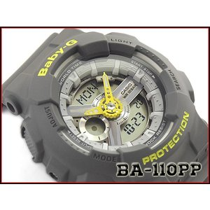 ベビーG Baby-G ベビージー パンチング・パターン・シリーズ 逆輸入海外モデル カシオ CASIO アナデジ 腕時計 グレー BA-110PP-8ADR BA-110PP-8A|g-supply