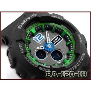 CASIO BABY-G 逆輸入海外モデル カシオ ベビーG アナデジ 腕時計 ブラック グリーン BA-120-1BER BA-120-1B|g-supply