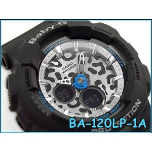 CASIO Baby-G カシオ ベビーG baby-g ベビーg レオパードシリーズ レディース アナデジ 腕時計 ブラック BA-120LP-1ACR BA-120LP-1A