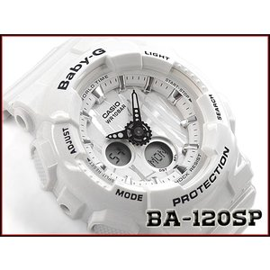 ベビーG Baby-G ベビージー スクラッチパターン 逆輸入海外モデル カシオ CASIO アナデジ 腕時計 ホワイト BA-120SP-7ADR BA-120SP-7A|g-supply