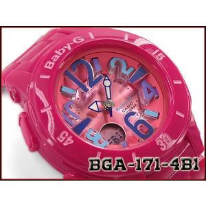 ベビーG ベビージー BABY-G Neon Marine Series ネオンマリンシリーズ 逆輸入海外モデル カシオ CASIO アナデジ 腕時計 ピンク BGA-171-4B1|g-supply
