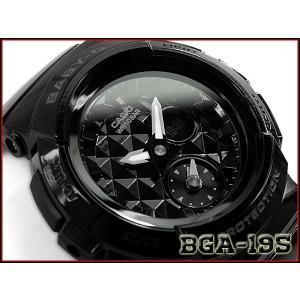 ベビーG Baby-G ベビージー 逆輸入海外モデル STUDS DIAL SERIES スタッズ ダイアル シリーズ カシオ CASIO アナデジ 腕時計 ブラック BGA-195-1A|g-supply