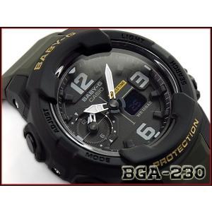 ベビーG Baby-G ベビージー 逆輸入海外モデル カシオ CASIO アナデジ 腕時計 ブラック カーキグリーン BGA-230-3BDR BGA-230-3B|g-supply