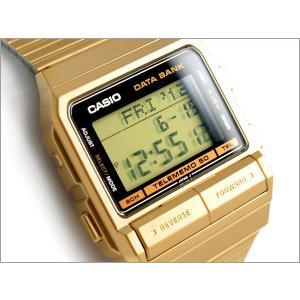 8a5f6db451 CASIO カシオ 逆輸入海外モデル DATA BANK データバンク ユニセックス デジタル腕時計 ゴールド ステンレス ...