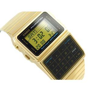 fcf18f3173 CASIO DATABANK カシオ データバンク 電卓機能 デジタル腕時計 逆輸入海外モデル ゴールド ブラック DBC ...
