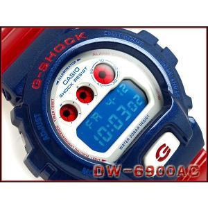 G-SHOCK Gショック ジーショック g-shock gショック Blue and Red Series デジタル ブルー レッド ホワイト DW-6900AC-2  CASIO 腕時計 g-supply