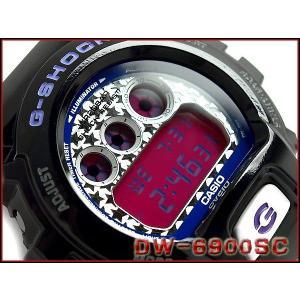 CASIO G-SHOCK カシオ Gショック ジーショック Crazy Colors クレージーカラーズ デジタル 腕時計 ブラック ホワイト ビビッドピンク DW-6900SC-1DR|g-supply