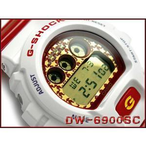 CASIO G-SHOCK カシオ Gショック ジーショック Crazy Colors クレージーカラーズ デジタル 腕時計 ホワイト レッド ゴールド DW-6900SC-7DR|g-supply