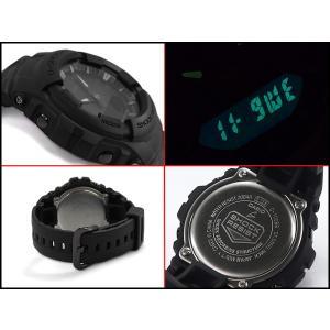 G-SHOCK Gショック ジーショック 逆輸入海外モデル CASIO アナデジ 腕時計 マット オールブラック G-100BB-1ADR G-100BB-1A|g-supply|03