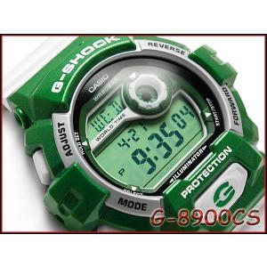 CASIO G-SHOCK カシオ Gショック 逆輸入海外モデル Crazy Color クレイジーカラーズ デジタル 腕時計 グリーン ホワイト G-8900CS-3|g-supply