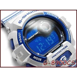 CASIO G-SHOCK カシオ Gショック 逆輸入海外モデル Crazy Color クレイジーカラーズ デジタル 腕時計 ブルー シルバー G-8900CS-8|g-supply
