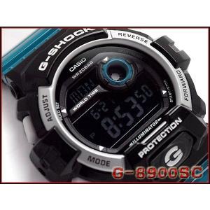 CASIO G-SHOCK カシオ Gショック ジーショック クレージーカラーズ デジタル 腕時計 ブラック ターコイズブルー G-8900SC-1B|g-supply