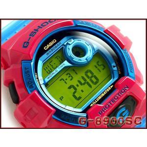 CASIO G-SHOCK カシオ Gショック ジーショック Crazy Colors クレージーカラーズ デジタル 腕時計 ビビッドピンク スカイブルー グリーン G-8900SC-4DR|g-supply