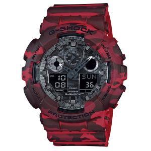 CASIO G-SHOCK カシオ Gショック 限定モデルCamouflage Series(カモフラージュシリーズ) アナデジ 腕時計 レッド GA-100CM-4AJF 国内正規モデル g-supply