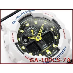 Gショック ジーショック G-SHOCK カシオ CASIO 限定モデル クレイジーカラーズ Crazy Color アナデジ 腕時計 ホワイト ブラック イエロー GA-100CS-7A|g-supply
