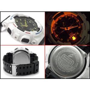 Gショック ジーショック G-SHOCK カシオ CASIO 限定モデル クレイジーカラーズ Crazy Color アナデジ 腕時計 ホワイト ブラック イエロー GA-100CS-7A|g-supply|03
