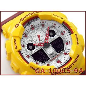 Gショック ジーショック G-SHOCK カシオ CASIO 限定モデル クレイジーカラーズ Crazy Color アナデジ 腕時計 イエロー バーガンディー GA-100CS-9A|g-supply
