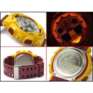 Gショック ジーショック G-SHOCK カシオ CASIO 限定モデル クレイジーカラーズ Crazy Color アナデジ 腕時計 イエロー バーガンディー GA-100CS-9A|g-supply|03