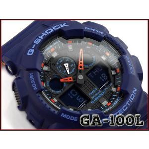 G-SHOCK Gショック ジーショック 逆輸入海外モデル CASIO カシオ アナデジ 腕時計 ブルー オレンジ GA-100L-2ACR GA-100L-2A