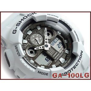 G-SHOCK ジーショック Gショック g-shock gショック ブリザードホワイト アナデジ GA-100LG-8ADR CASIO 腕時計 G-SHOCK Gショック