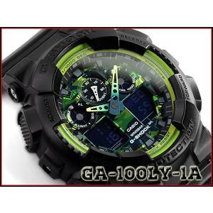 G-SHOCK Gショック ジーショック カモフラ 迷彩 逆輸入海外モデル CASIO アナデジ 腕時計 ブラック グリーン GA-100LY-1ACR GA-100LY-1A g-supply